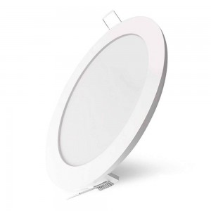 LED panel AIGOSTAR E6 D170 white round 230V 16W 1130 CRI80 120° IP20 3000K warm white