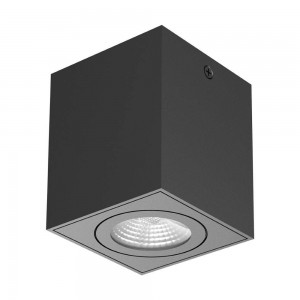 LED ceiling light PROLUMEN DL129 TRIAC black 230V 10W 1030lm CRI90 60° IP20 3000K warm white