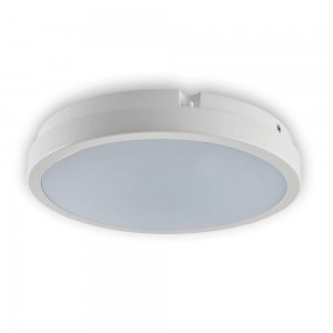 Dome light TORO white round 230V 18W 1405lm CRI80 120° IP65 4000K pure white
