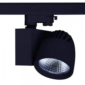 LED track light PROLUMEN Stockholm black 230V 40W 4000lm CRI80 45° 4000K pure white