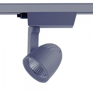 LED track light PROLUMEN Vantaa gray 230V 40W 4000lm CRI80 45° 4000K pure white