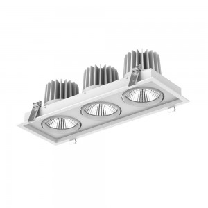 LED-alasvalo PROLUMEN CL67-3 valkoinen 230V 90W 8200lm CRI80 60° IP20 3000K lämmin valkoinen