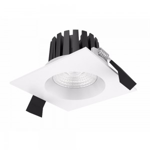 LED downlight PROLUMEN DL104B 2.5 black square 230V 10W 870lm CRI80 36° IP65 3000K warm white