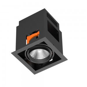 LED downlight PROLUMEN RD05 black 230V 12W 800lm CRI80 24° IP20 3000K warm white