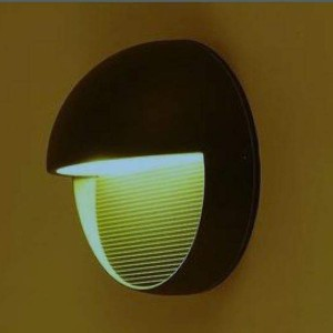 LED wall light REVAL BULB A165 black 230V 3W 200lm CRI80 90° IP65 3000K warm white