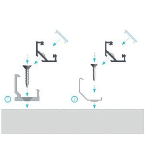 Alumiiniumprofiil LUMINES Type C H klamber, metal