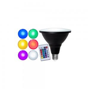 LED bulb PAR38 356-82 + remote 220-240V 7,5W 445lm CRI80 E27 100° IP65 RGB + 6000K RGBW cold