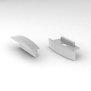Otsakork ALU SlimLine Recessed 7mm, metall
