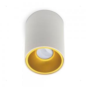 Корпус лампы KIVI белый / золотой круглый 230V GU10 IP20