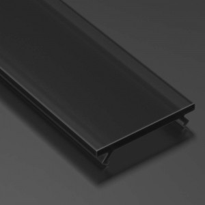 Aluminium profile cover LUMINES PMMA (A B C D G H Y Z) 2m, frosted 24% black