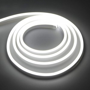 LED Riba REVAL BULB Neon Flex 120LED/m 17,5x8mm 230V 10W CRI80 IP67 3000K soe valge