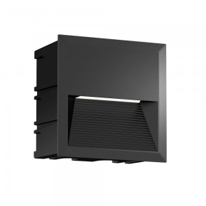 LED wall light PROLUMEN WL60B-8W black 230V 8W 400lm CRI80 70° IP65 3000K warm white