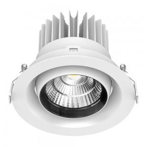 LED-alasvalo PROLUMEN DL122 6 valkoinen kierros 230V 35W 3000lm CRI80 45° IP20 3000K lämmin valkoinen