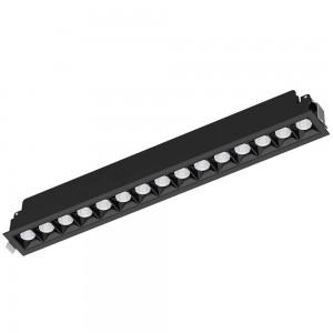 LED-alasvalo PROLUMEN 13051 musta 230V 30W 2400lm CRI80 60° IP20 4000K päivänvalkoinen