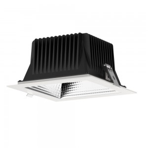 LED-valaisin PROLUMEN DL197-6 UGR19 valkoinen neliö 230V 18W 1600lm CRI80 60° IP40 3000K lämmin valkoinen