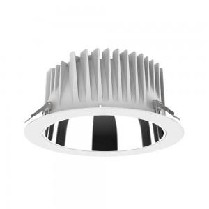 LED-alasvalo PROLUMEN DL268 8 valkoinen kierros 230V 18W 1800lm CRI80 80° IP54 3000K lämmin valkoinen