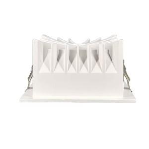 LED Allvalgusti PROLUMEN Toulouse TRIAC valge ruut 230V 12W 1080lm CRI90 55° IP20 3000K soe valge