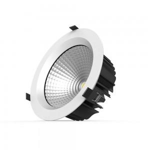 LED downlight PROLUMEN DL22 8 white round 230V 35W 3800lm CRI80 36° IP20 4000K pure white