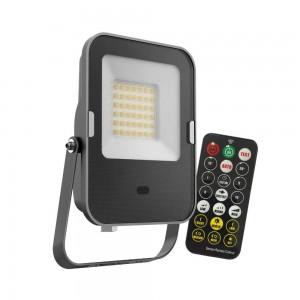 LED prožektor liikumisanduriga LED MHNC must 100-240V 10W 800lm CRI80 120° IP65 3000K soe valge