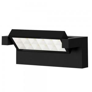 LED wall light PROLUMEN WL57 black 230V 18W 2000lm CRI80 90° IP65 3000K warm white