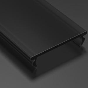 Aluminium profile cover LUMINES DOUBLE PMMA, 2m, black 25%