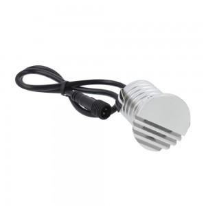 LED Terrace lighting REVAL BULB Rouen silvery round 12V 1W 95lm CRI80 IP67 3000K warm white