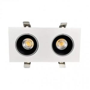 LED Allvalgusti PROLUMEN Nantes 2x12W TRIAC kärgfiltriga valge ruut 230V 24W 2310lm CRI90 36° IP20 4000K päevavalge