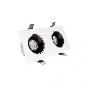 Локальный LED светильник PROLUMEN Nantes 2x12W TRIAC honeycomb белый квадрат 230V 24W 2160lm CRI90 36° IP20 3000K теплый белый