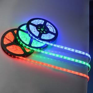 LED Riba REVAL BULB 5050 30LED 5m rull silikoonkattega 12V 7.2W 680lm 120° IP55 RGB